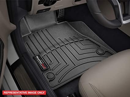 WeatherTech Custom Fit FloorLiner for 2015-2019 Ford F-150 SuperCrew 1st /& 2nd Row Black