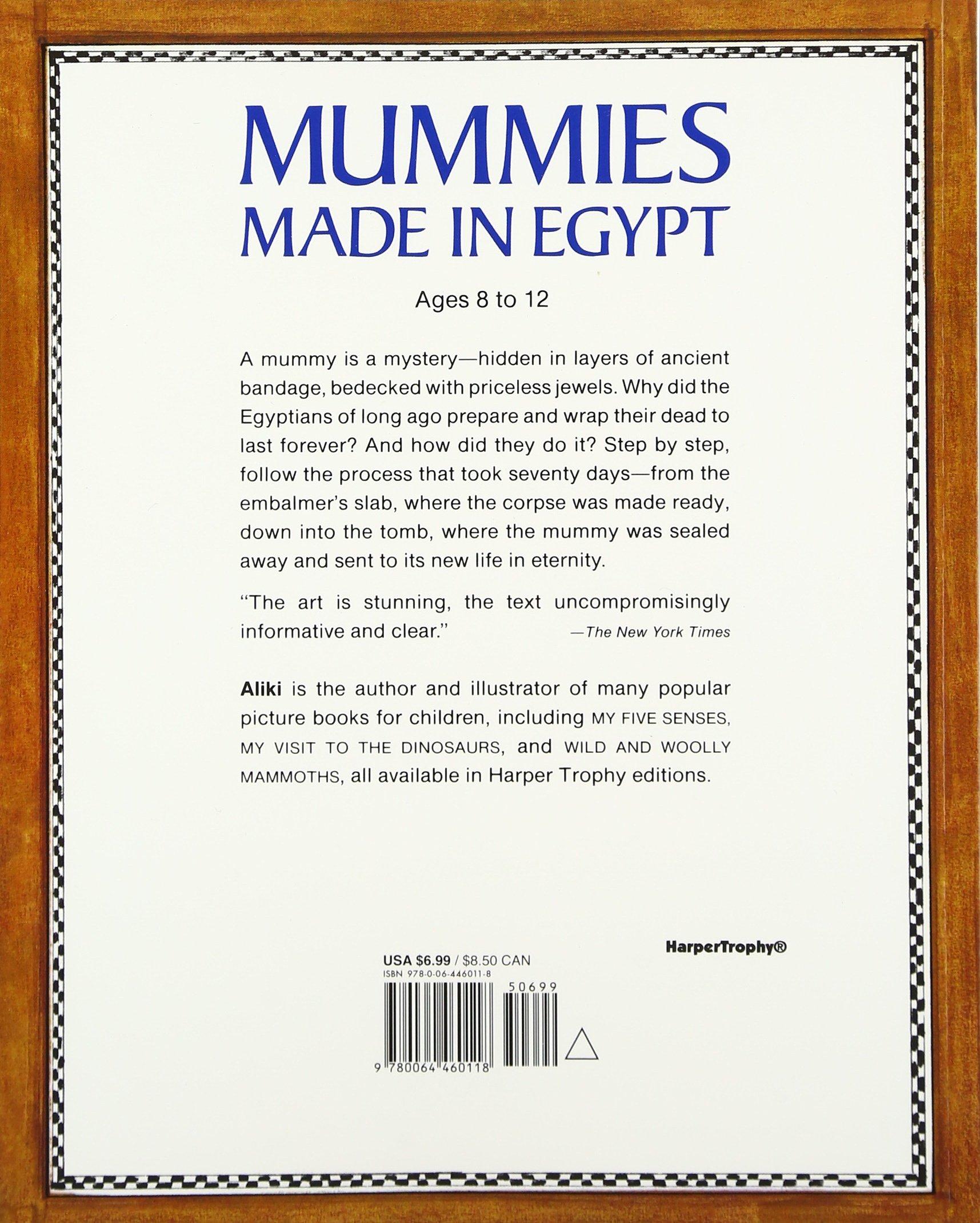 Amazon Mummies Made In Egypt Reading Rainbow Books