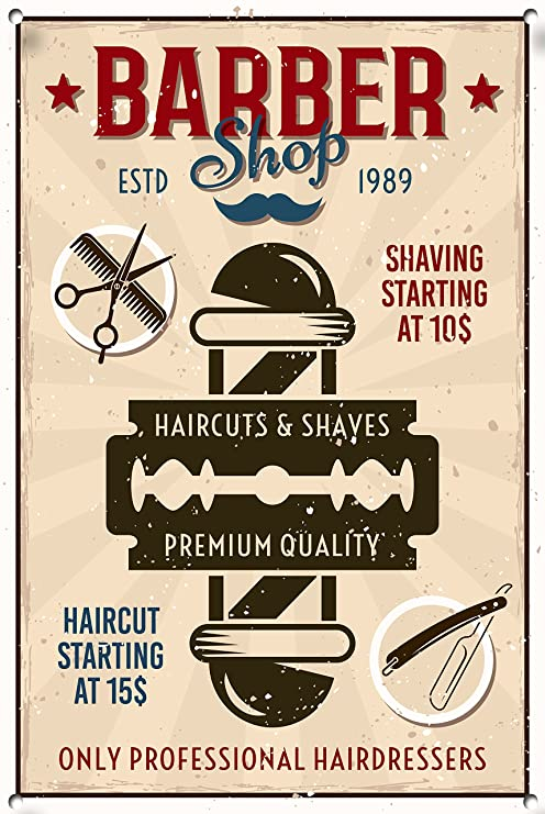 Cartel de Barber Shop, Signo de Metal, Letrero Barber Shop ...