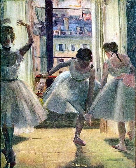 The Museum Outlet Reproduction Sur Toile Du Tableau Trois Danseuses De Degas 61 X 45 7 Cm Amazon Fr Cuisine Maison