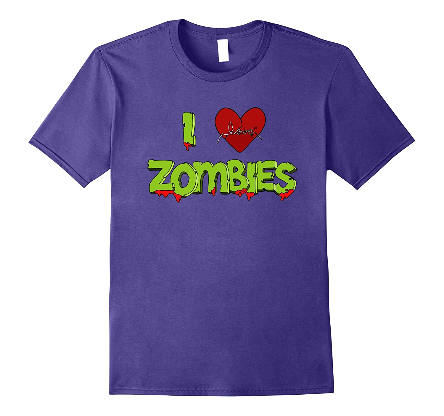 ON SALE - Funny Horror Shirt - I Love Zombies-FL