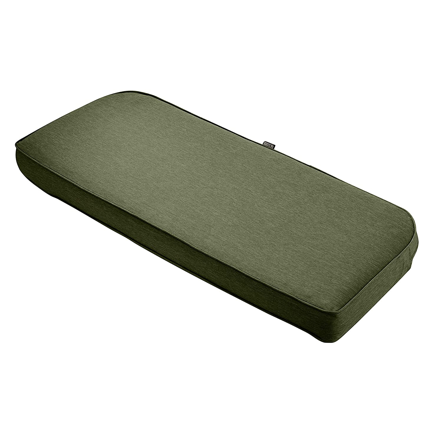 """Classic Accessories Montlake Bench Cont. Cushion Foam & Slip Cover, Heather Fern, 41x18x3"""" Thick"""