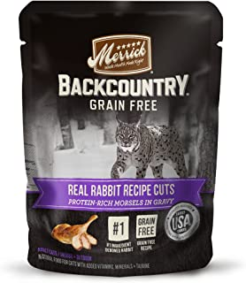 product image for Merrick Backcountry Grain Free Real Meat Wet Cat Food, 3 oz. Pouches