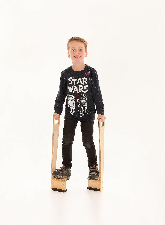 h/öhenverstellbare Kinderstelzen aus Birkenenholz 60 cm Robustes Material FLIXI Holz Stelzen zum Turnen und Balancieren