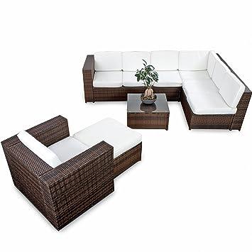 Polyrattan Gartenmöbel Lounge Set (Modell 2017) Polyrattan Sitzgruppe  Loungemöbel +