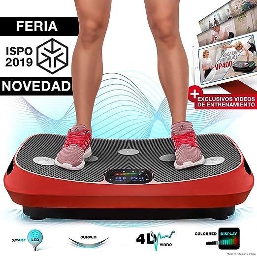 ¡Novedad Feria 2019! 4D VP400 Plataforma Vibratoria de Diseño Curvo + Videos de Entrenamiento, Pantalla Táctil, Gran Superficie, Tecnología LED, Reloj ...