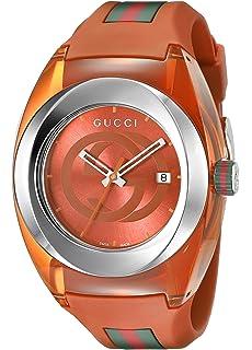 61024775d87 Gucci Analog Display Swiss Quartz Orange SYNC Watch(Model XXL YA137108)