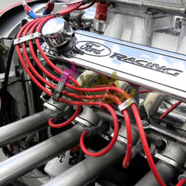 3pcs champán oro aluminio Motor para bujías separador de cable divisor organizador Kit de sujeción: Amazon.es: Coche y moto