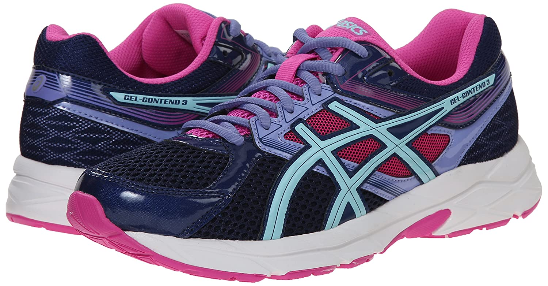 8c68a3c2dd ASICS Women's Gel-contend 3 Running Shoe, Indigo Blue/Aqua Splash/Pink  Glow, 5 D US