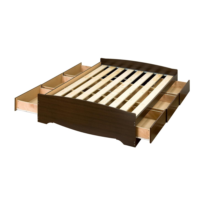 Full platform bed frame - Amazon Com Espresso Full Mate S Platform Storage Bed With 6 Drawers Kitchen Dining