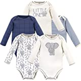 Touched by Nature Baby Organic Long Sleeve Bodysuits 5pk