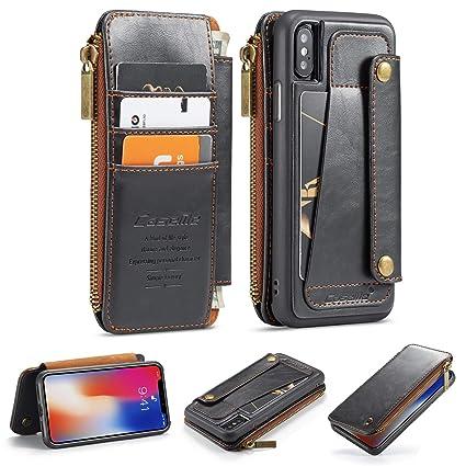 Amazon.com: AKHVRS - Funda de piel tipo cartera para iPhone ...