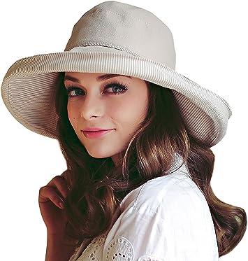 Balight Bucket Hat UV Protection Breathable Packable Foldable Sunshade Cotton Linen Blend Sun Cap For Women 1 PCS