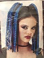 Black/Blue Spiral Falls Adult Hair Accessory