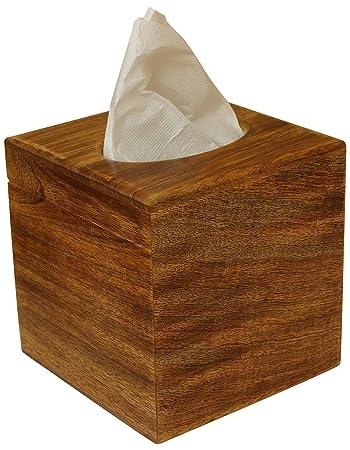 Amazon Com Ab Handicrafts Wooden Brown Tissue Paper Dispenser For