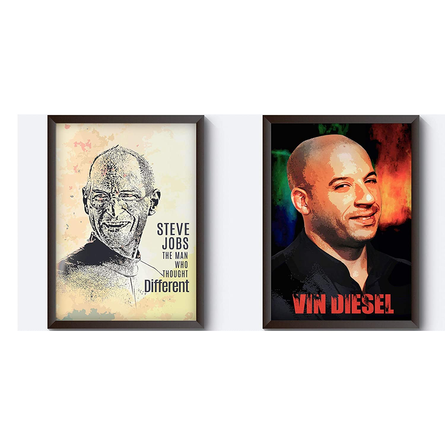 Motivate Box 2 Frames With Steve Jobs Apple Art And Vin Diesel Fan