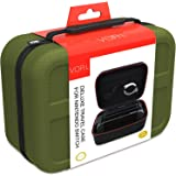 Nintendo Switch ケース ニンテンドースイッチの保護ケース VORI 収容力が大きい 防水 防塵 耐衝撃 全面保護 キャリングケース 旅行用収納バッグ 小物収納可 緑