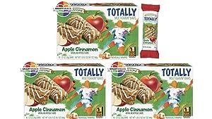 Fieldstone Bakery Whole Grain Totally Apple Cinnamon Bars, 3 Boxes, 48 Individually Wrapped Bars