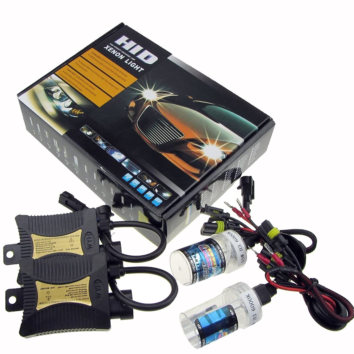 JINYJIA 12V 55W Xenon HID Conversion Kit Headlight for Car Vehicle Replacement Bulb, H7/6000K SHENZHEN JINYJIA ELECTRONICS TECHNOLOGY CO. LTD.