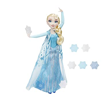 4f50a8c3f2 Buy Disney Frozen Snow Powers Elsa Blonde Doll Online at Low Prices in  India - Amazon.in