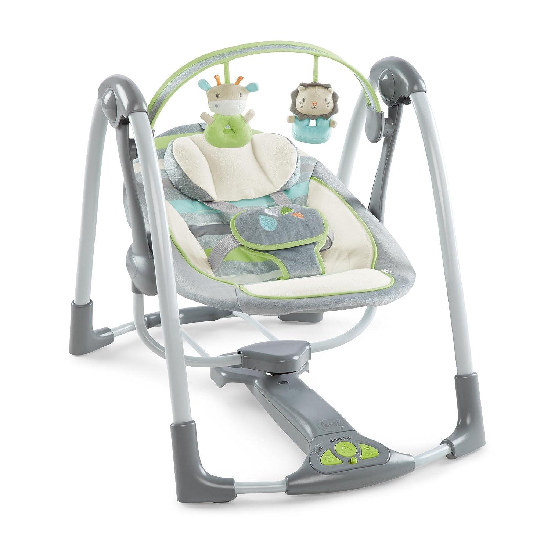 Amazon Ingenuity Power Adapt Portable Swing Vesper Grey Baby