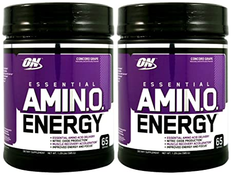 Optimum Nutrition Amino Energy 65 Servings, Concord Grape 2 Pack