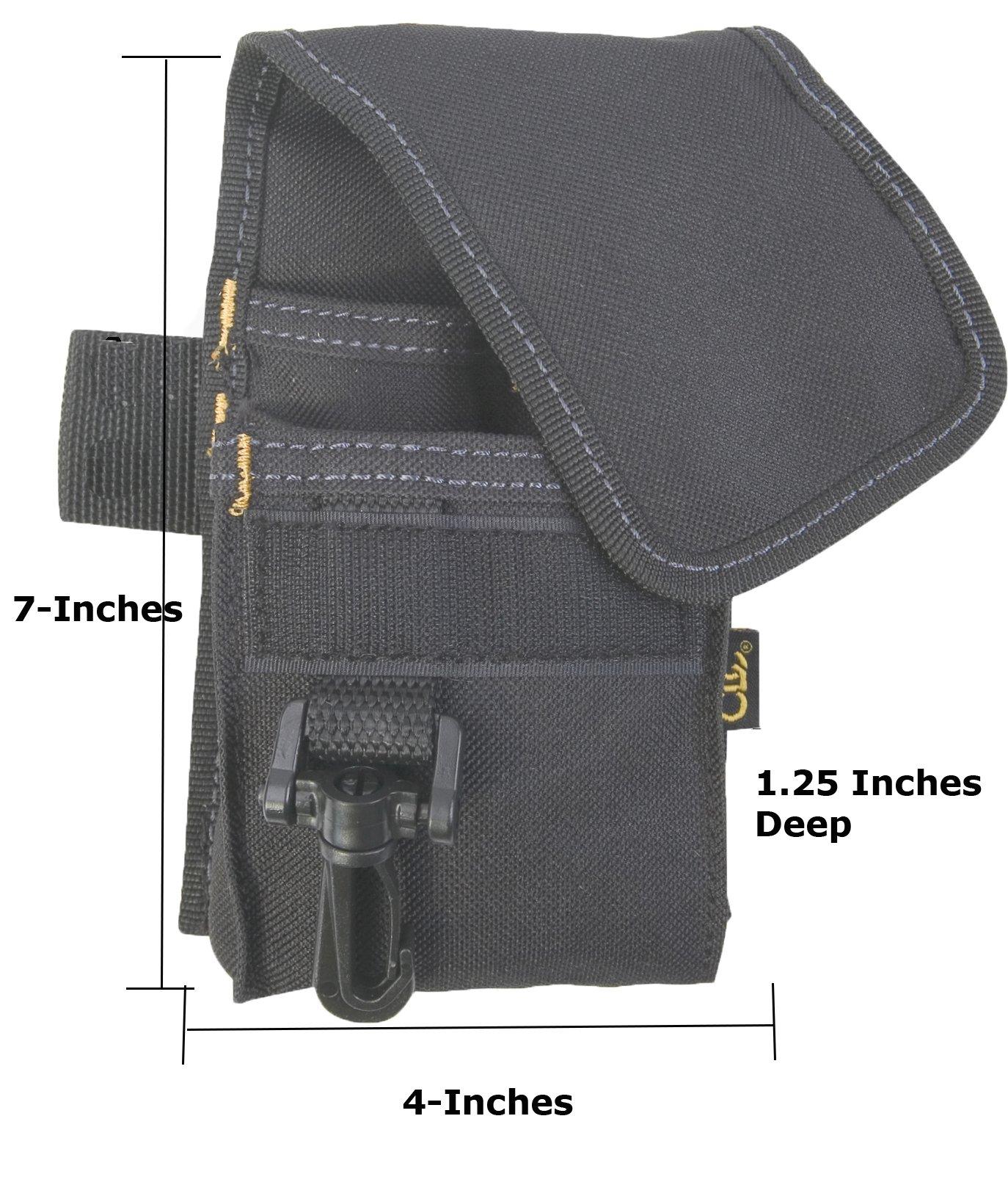 CLC Custom Leathercraft 1104 Construction Multi-Purpose Poly Tool Holder, Cell Phone Holder