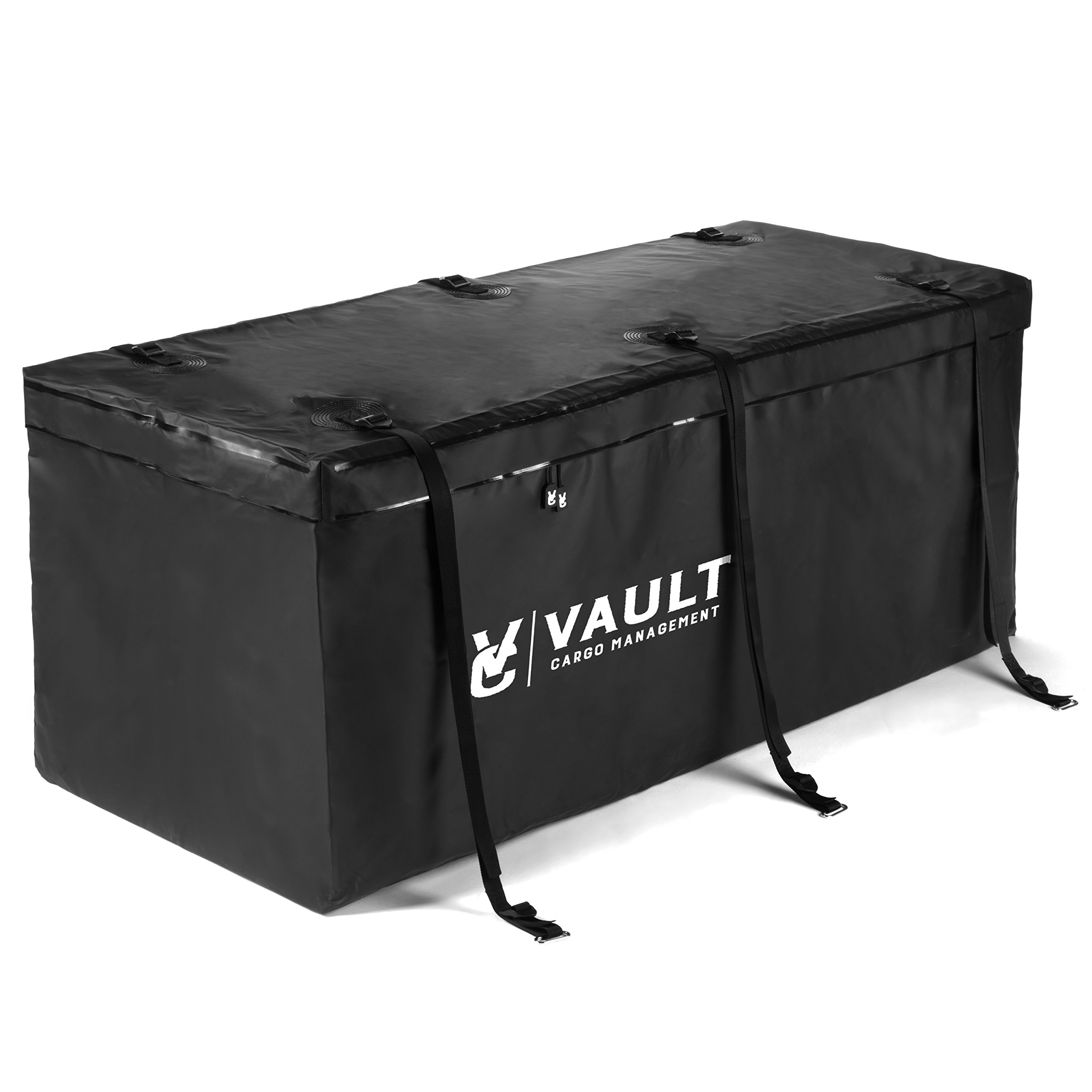 Hitch Cargo Carrier Bag from Vault Cargo - 15 Cubic Feet - Heavy Duty Waterproof Cargo Hitch Carrier Bag Perfect for Camping, Luggage, and Outdoor Gear. Cargo Hitch Bag (59'' x 24'' x 24'') by Vault Cargo Management