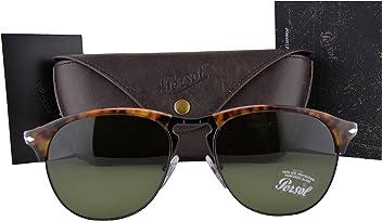 2da4c040e4166 Persol Sunglasses PO8649S Cafe Havana w Green Lens 1084E PO8649