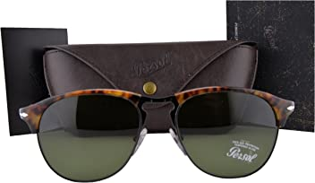 961fdcf085 Persol Sunglasses PO8649S Cafe Havana w Green Lens 1084E PO8649