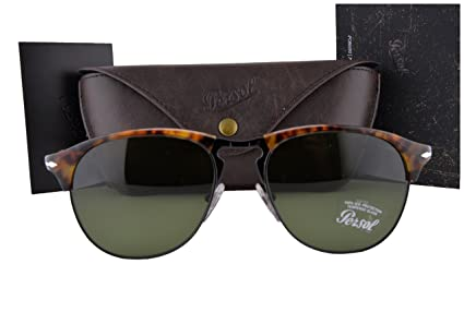 48eb74bc71251 Amazon.com  Persol Sunglasses PO8649S Cafe Havana w Green Lens 1084E ...