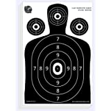 Dynamic Shooters – 100 Pack 17X25-inch Made in USA Large Paper Silhouette Range Shooting Targets - Firearm, Rifle, Gun…