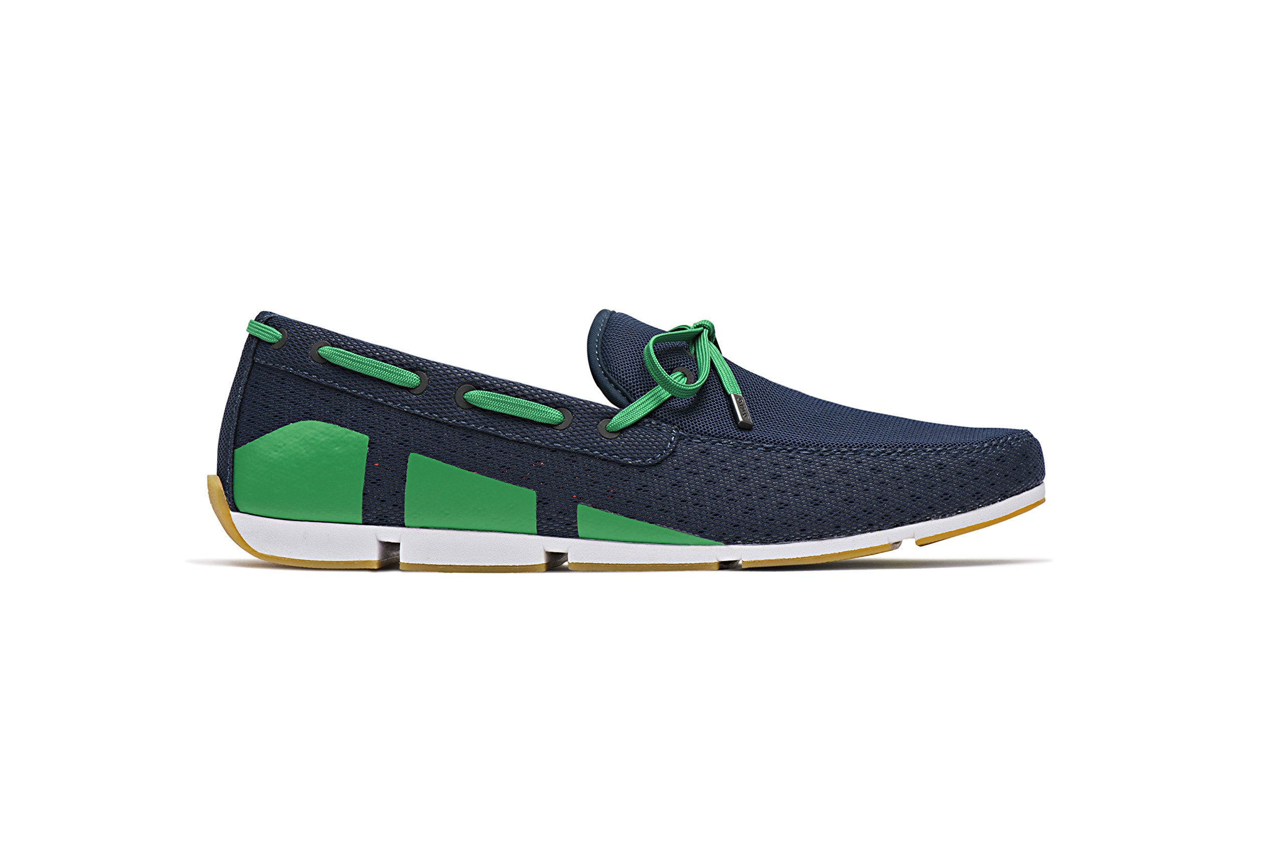 SWIMS Men's Breeze Loafer for Pool and Summer - Navy/Green/White, 10