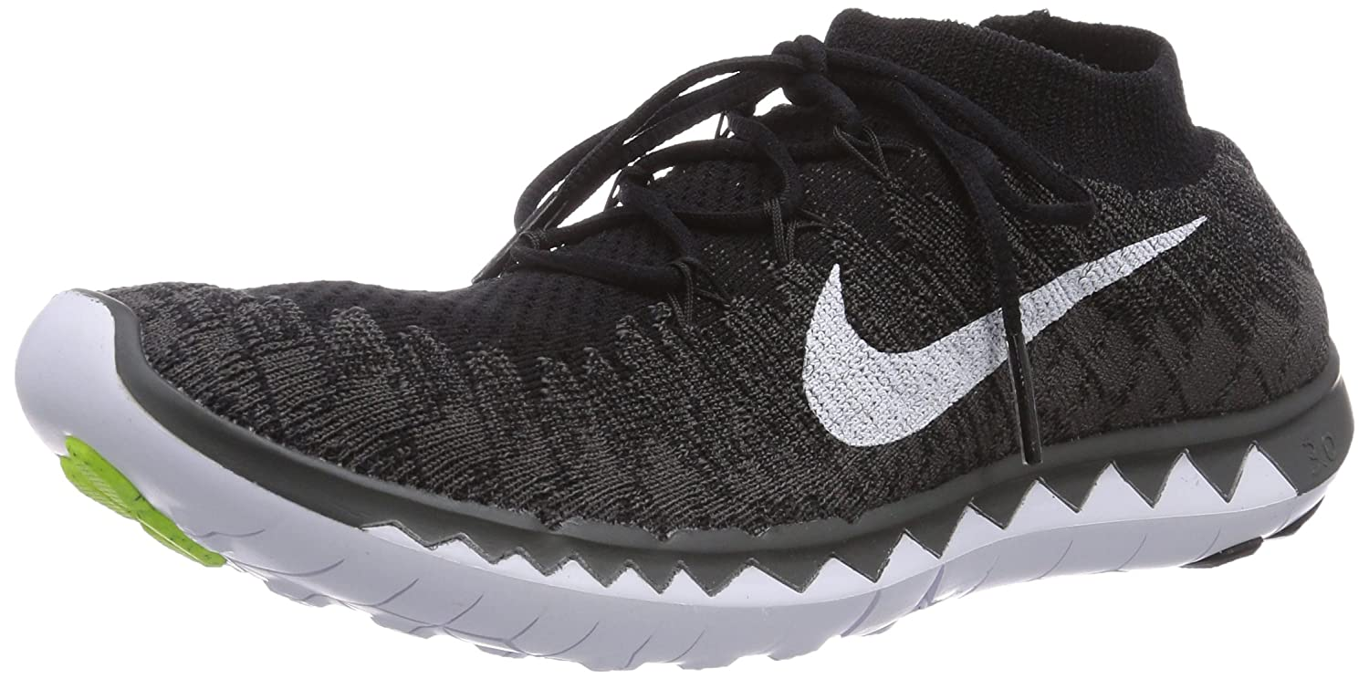 finest selection fee69 7be15 Nike Women s s Free 3.0 Flyknit Running Shoes Schwarz (Black White-Midnight  Fog-Volt), 3  Amazon.co.uk  Shoes   Bags