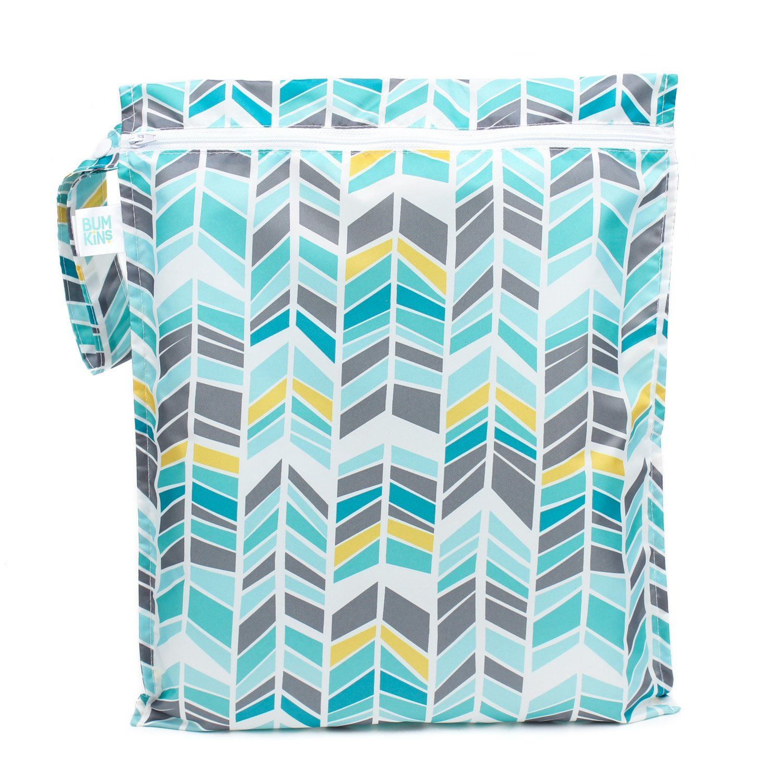 Bumkins Reusable Waterproof Wet Bag with Zipper, Quill