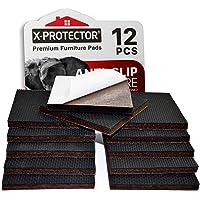 """Non Slip Furniture Pads X-PROTECTOR – Premium 12 pcs 3"""" Furniture Pad! Best Furniture Grippers - SelfAdhesive Rubber…"""