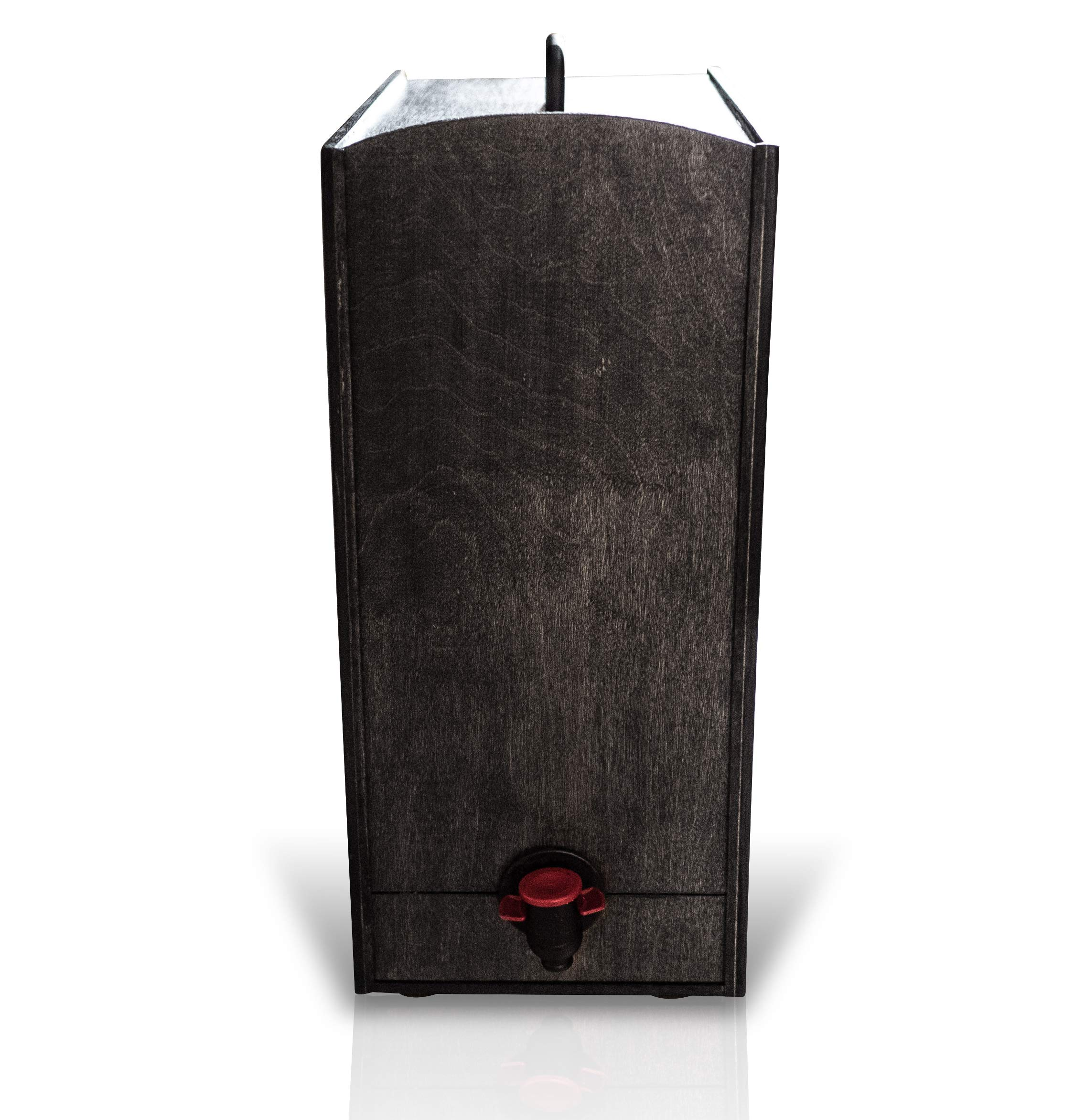 Boxed Wine Wood Case by Winewood | Black Color | Fits 3 Liter and 5 Liter Boxes of Wine | Holder, Dispenser, Cover for Boxed Wine by Winewood Cases (Image #1)