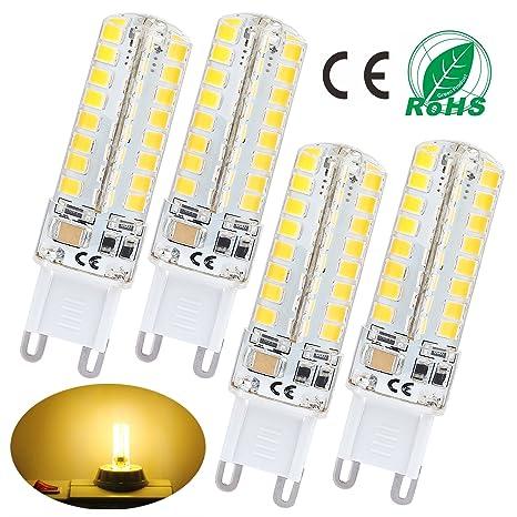 Liqoo® 4x 6w Bombilla LED G9 LED 6w Blanco cálido 3000K AC 220V - 240V
