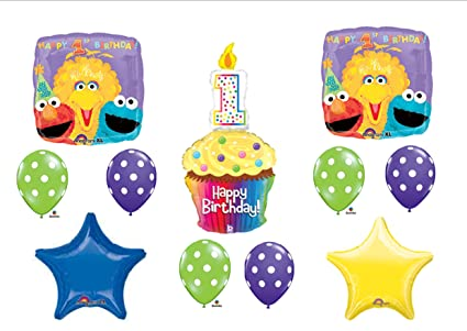 SESAME STREET 1st First BIRTHDAY PARTY Balloons Decorations Supplies By Anagram