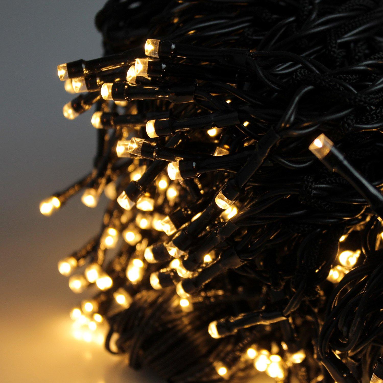 LED Lichterkette 192 LEDs Weihnachtsbaumbeleuchtung 2,08m Baum Beleuchtung Kegel