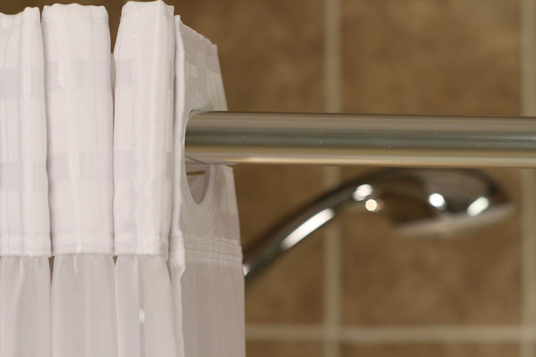 Amazon.com: Whitaker White Shower Curtain: Health & Personal Care