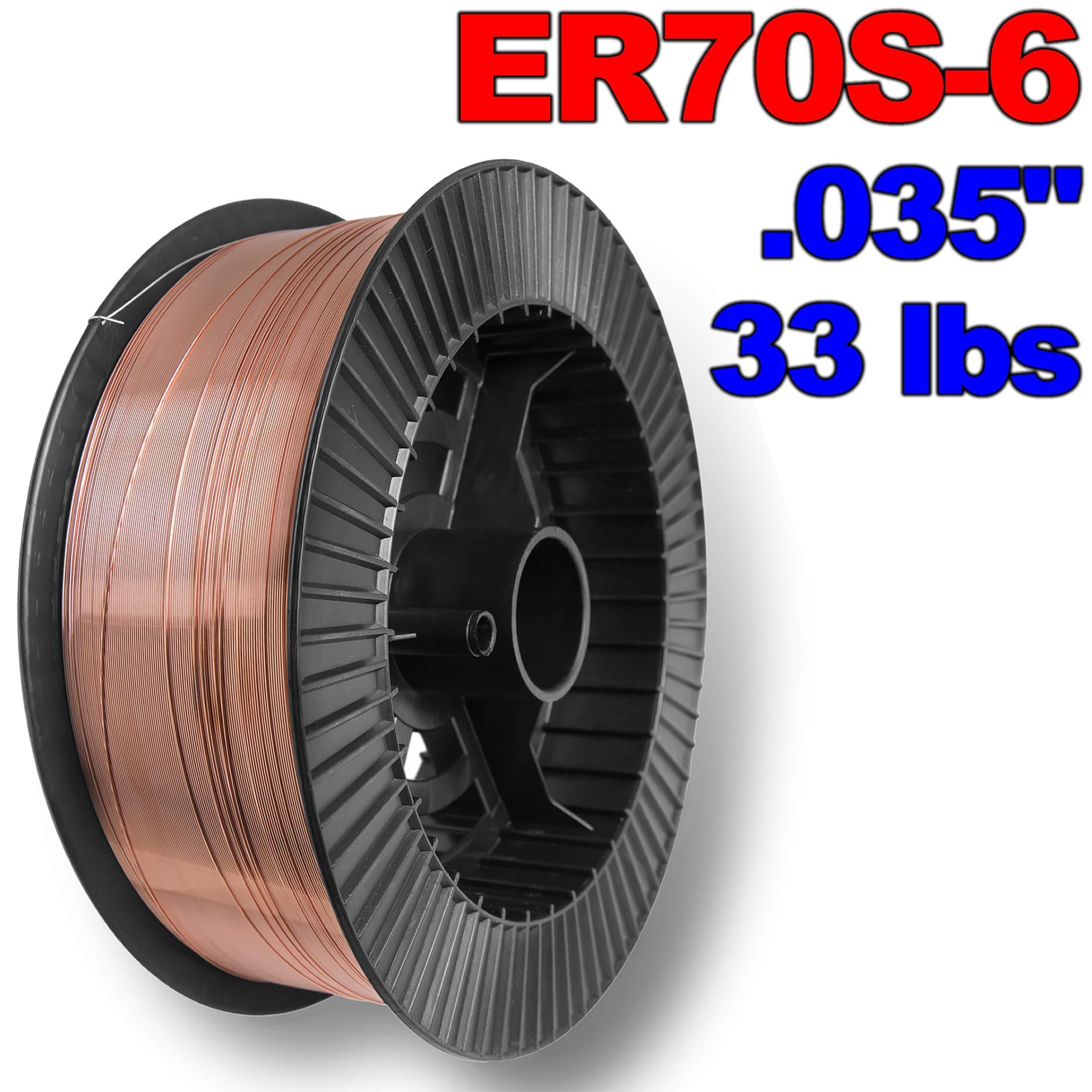 PGN - ER70S-6 .035'' (0.9 mm) Mild Steel MIG Welding Wire - 33 Lbs Spool by PGN Bearings