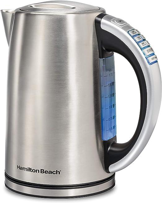 Amazon.com: Hamilton Beach 41020 - Hervidor eléctrico (1,7 L ...