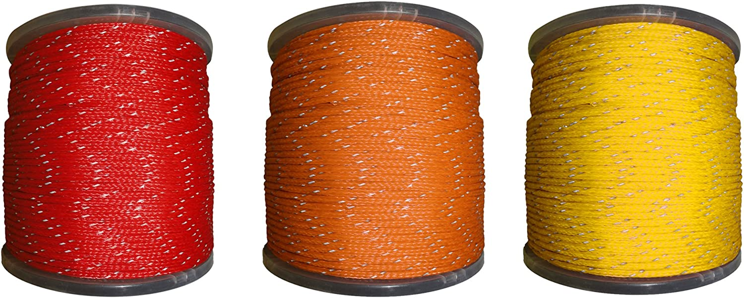 High Grade for Outdoors 1//4 x 50ft Coil, Orange Concerts Crafting SGT KNOTS Hollow Braided Polyethylene Rope