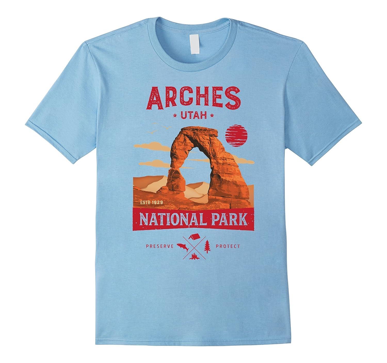 Arches National Park Vintage Utah T Shirt Men Women-Art