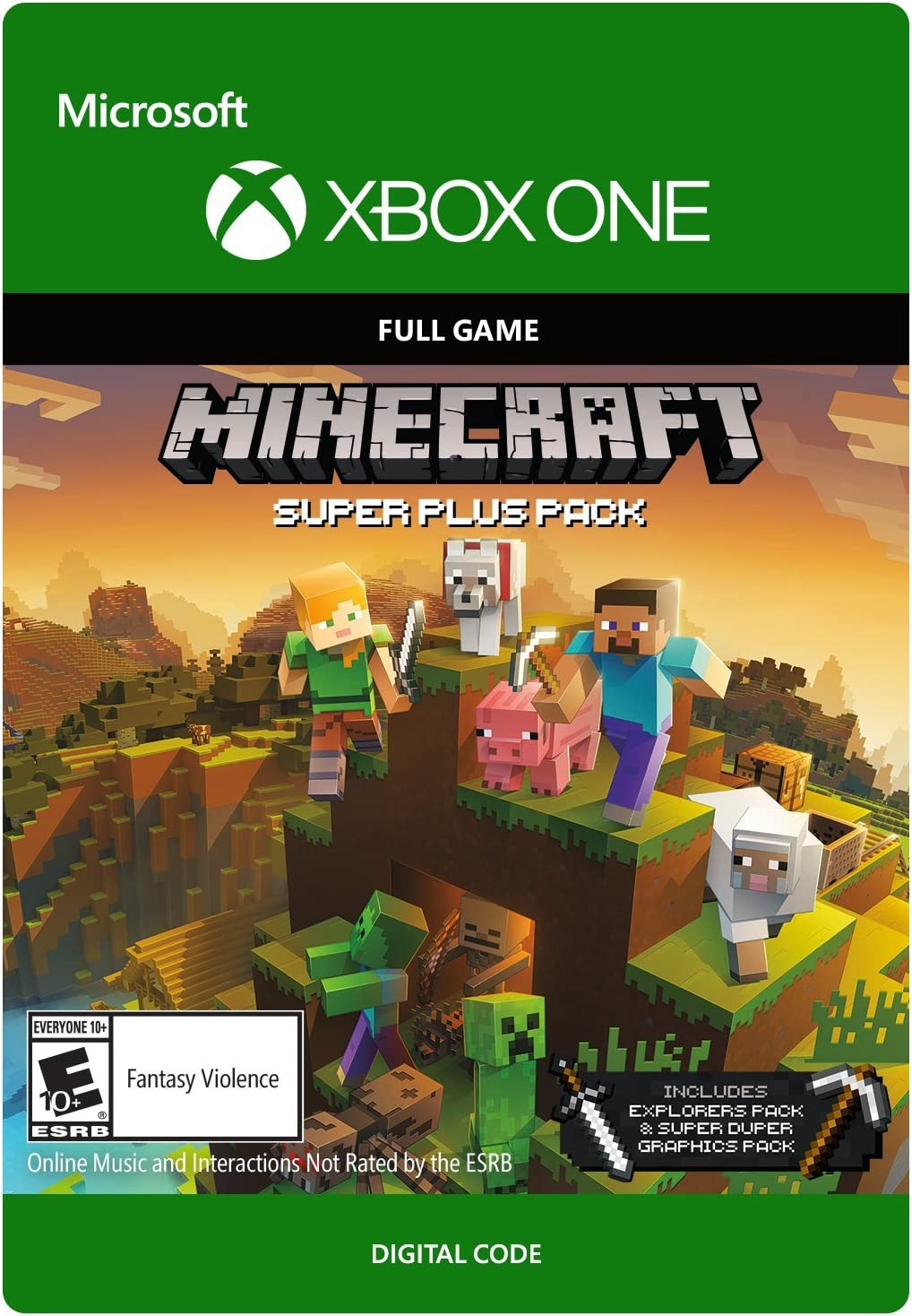 Amazon com: Minecraft Super Plus Pack - Xbox One [Digital Code