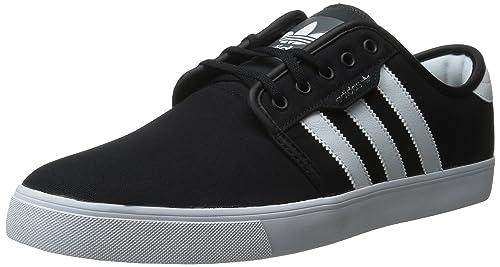 adidas Originals Men's Seeley Lace Up Shoe, Black/Running White Gum, ...
