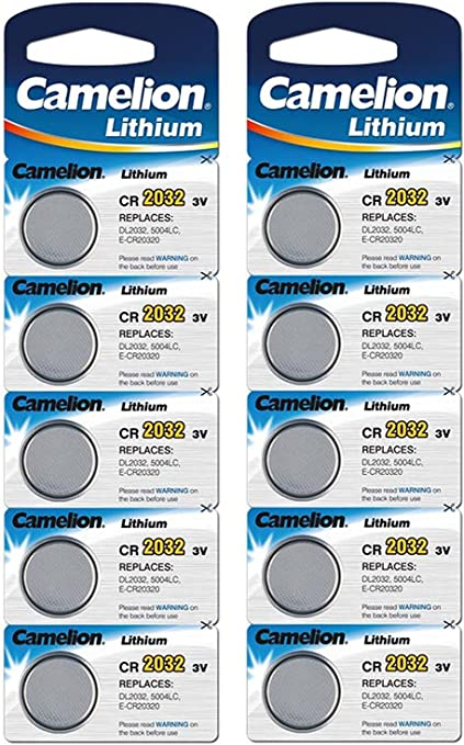 Camelion Lithium Cr2032 3 V Button Cell Pack Of 10 Elektronik