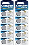 Camelion Paquete de 10 Pilas de botón de litio 3 V, DL2032/5004LC CR2032