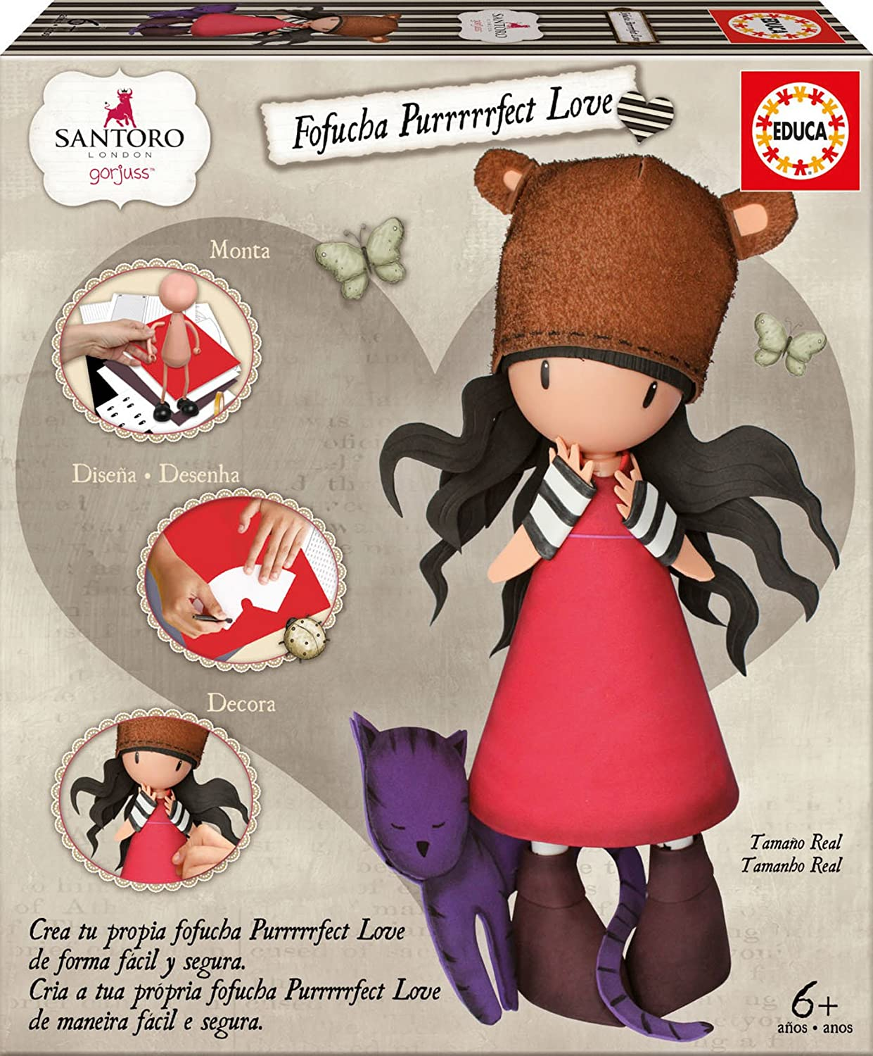 GORJUSS Muñeca Fofucha, Multicolor (Educa Borrás 17264): Amazon.es ...